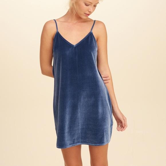 fdd3a244cb92b Hollister Dresses   Skirts - Hollister Velvet Slip Dress